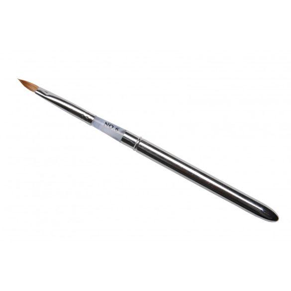 Pennello Acrilico con astuccio metallo, conico,  N.6blu